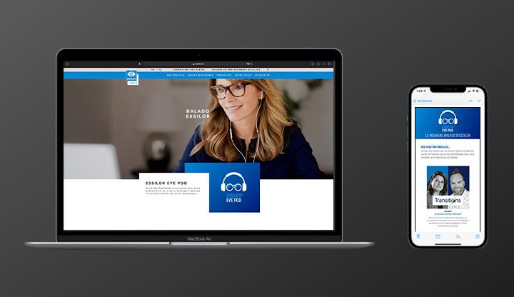 Camden crée du contenu audio de marque pour Essilor